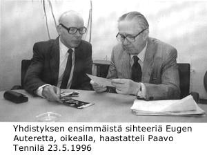 Eugen Auteretta ja Paavo Tennilä